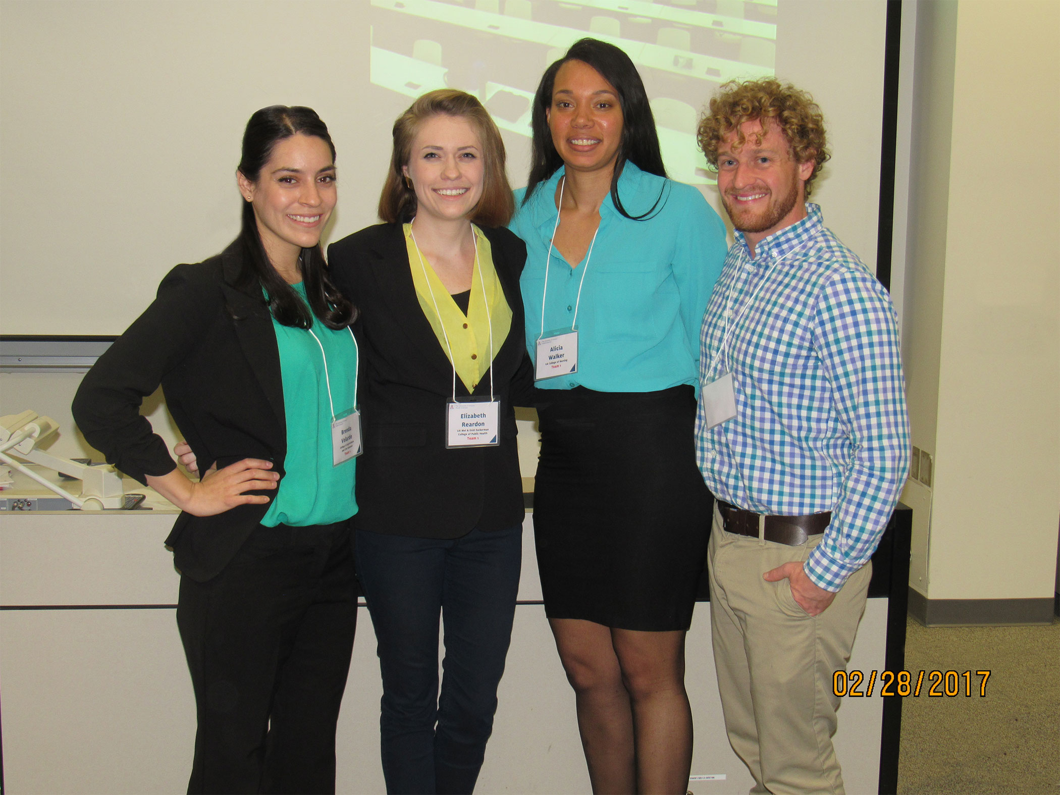 Winners of the UA local CLARION IPE competion, headed to MN for national competition.
